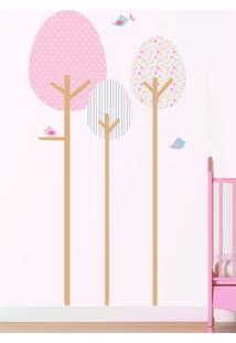 Adesivo Decorativo Stixx Árvore Fofura Menina Rosa