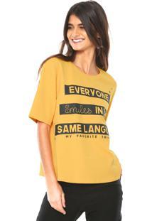 Camiseta My Favorite Thing(S) Ampla Amarela