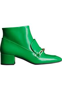 Burberry Ankle Boot De Couro - Green