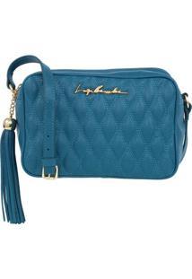 Bolsa Em Couro Azul