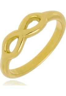 Anel Falange Infinito Di Capri Semi Jóias X Ouro Dourado