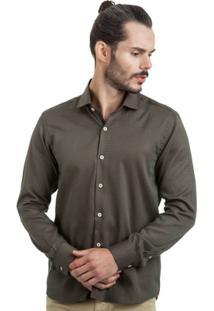 Camisa Di Sotti Trabalhada Marrom - Masculino