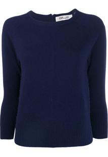 Diane Von Furstenberg Suéter Com Zíper - Azul