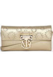 Bolsa Carteira Transversal Sol & Lua- Dourada- 11X21Morena Rosa