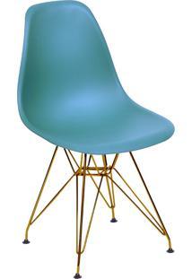 Cadeira Com Base Em Cobre 1102-Or Design - Azul Petróleo