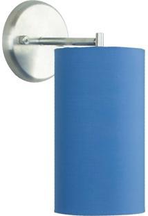 Arandela Cilíndrica De Cúpula 14X25Cm Azul