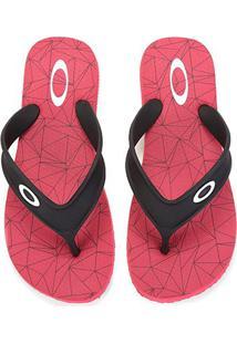 Chinelo Oakley Wave Point 2.0 Masculino - Masculino-Vermelho Escuro