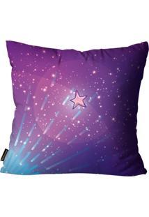 Capa Para Almofada Premium Cetim Mdecore Estrelas Colorida 45X45Cm