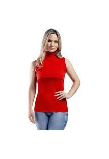 Blusa Gola Alta Sem Manga Amamentação Itsbella Vermelho