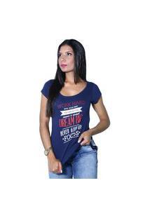 Camiseta Heide Ribeiro Work Hard Give Your Best Marinho