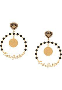 Dolce & Gabbana Par De Bincos De Argola - Dourado