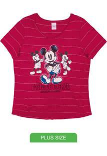 Blusa Plus Size Com Estampa Vermelho