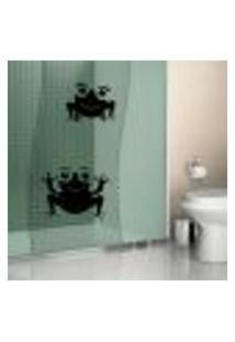 Adesivo Para Box De Banheiro Casal De Sapos / Sapinhos - Médio