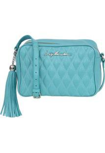 Bolsa Em Matelassê Azul Claro