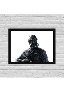 Quadro Decorativo Gamer Tom Clancy'S Preto - Médio