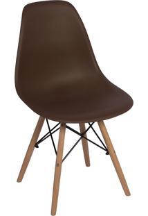 Cadeira Império Brazil Charles Eames Eiffel Dkr Wood - Design - Marrom