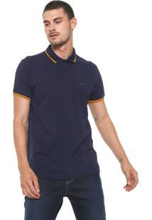 Camisa Polo Sommer Reta Logo Azul-Marinho