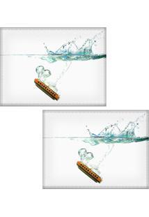 Jogo Americano Colours Creative Photo Decor - Gaita Com Efeito Submarino - 2 Peças