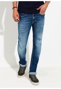 Calça Jeans Masculina Slim Estonada