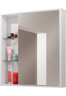 Espelheira Para Banheiro 1 Porta Miami Móveis Bechara Branco