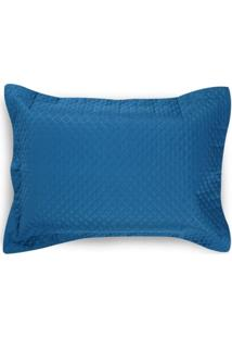 Porta Travesseiro 50X70Cm Matelado Solecasa Azul Escuro