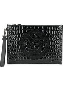 Versace Medusa Head Clutch Bag - Preto