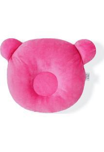 Travesseiro Almofada Rn Bebê Anatômico Para Bebê Rosa