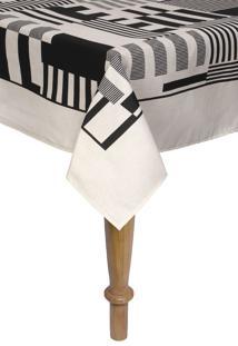 Toalha De Mesa Retangular Karsten Sempre Limpa Mosaico 160X270Cm Bege - Bege - Dafiti