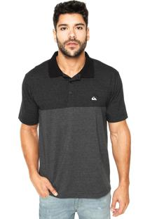 Camisa Polo Quiksilver True Force Cinza