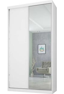 Guarda-Roupa 2 Portas 3 Gavetas Virtual 120 C/Espelho Branco Maderado Robel Móveis