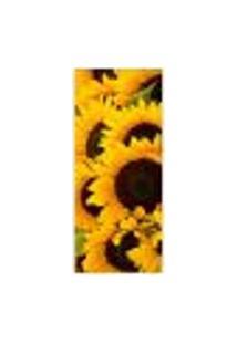Adesivo Decorativo De Porta - Flores - Girassol - 054Cnpt Auto Colante
