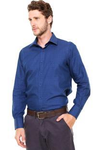 Camisa Aleatory Full Slim Azul-Marinho
