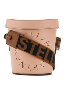 Stella Mccartney Bolsa Bucket Stella Com Logo - Rosa