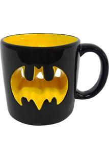 Caneca De Porcelana Preta 320Ml Batman Urban Home