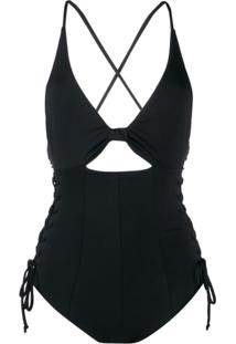 Marysia Cut Out Detail One-Piece Swimsuit - Preto