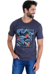 Camiseta Masculina Onnes - Cinza