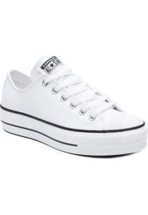 Tênis Converse Feminino Chuck Taylor All Star Lift Branco/Preto/Branco Ct09830001 38 - Kanui