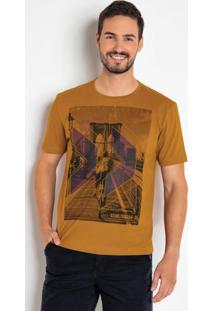 Camiseta Manga Curta Estampa Cidade