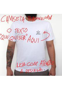 Mini Tipo Personalizada - Camiseta Clássica Masculina