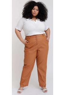 Calça Bolso Faca Almaria Plus Size Pianeta Alfaiat