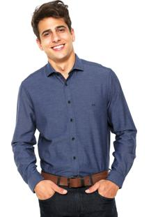 Camisa Richards Bordado Azul