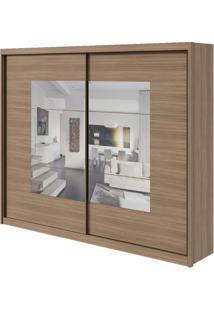 Guarda-Roupa Toronto Plus Com Espelho - 2 Portas - 100% Mdf - Carvalho Naturale Ou Carvalho Naturale Com Offwhite