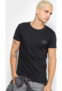 Camiseta Hd Slim On Waves 3018B Masculina - Masculino