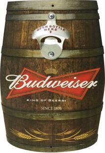 Abridor De Garrafa Barril Budweiser Kasa Ideia