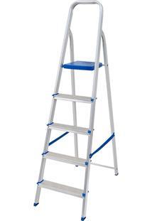 Escada De Alumínio 5 Degraus Mor - Multistock
