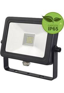 Refletor Projetor Slim Led Luz Branca Bivolt 10W - Lm241 - Luminatti - Luminatti