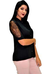 Camisa Energia Fashion Lisa Preto