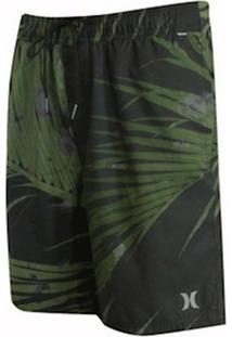 Shorts Hurley Elastico Water Palms Masculina - Masculino