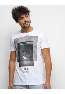 Camiseta Acostamento Alpes Marítimos Masculina - Masculino-Branco