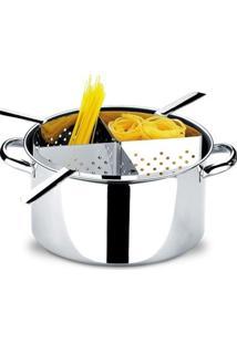 Panela Espagueteira Em Aço Inox Savoy 1075-200 Brinox